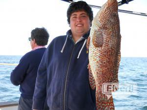 Alvaro con un pinto de 3,8 kg pescado en en el barco Maregalia 1º, las Rias Baixas de Galicia, sent by: Maregalia pesca en barco Rías Gallegas, litor (Not registered)